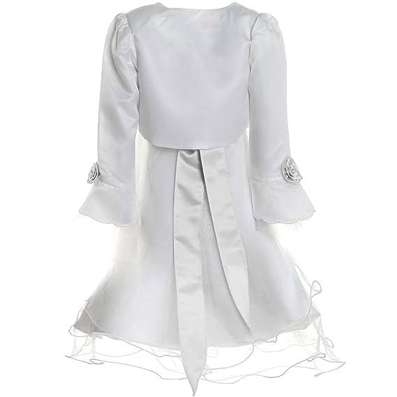 33294606452 BEZLIT Mädchen Kommunions Kleid Fest Kleid Bolero Rose 21476 Kleider   Amazon.de  Bekleidung