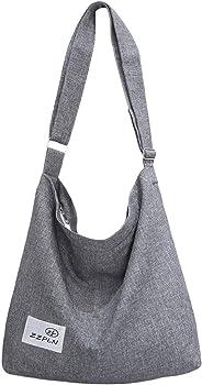 ZZPLN Women's Canvas Crossbody Bag Casual Hobo Bag Shoulder Bag Shopping Bag