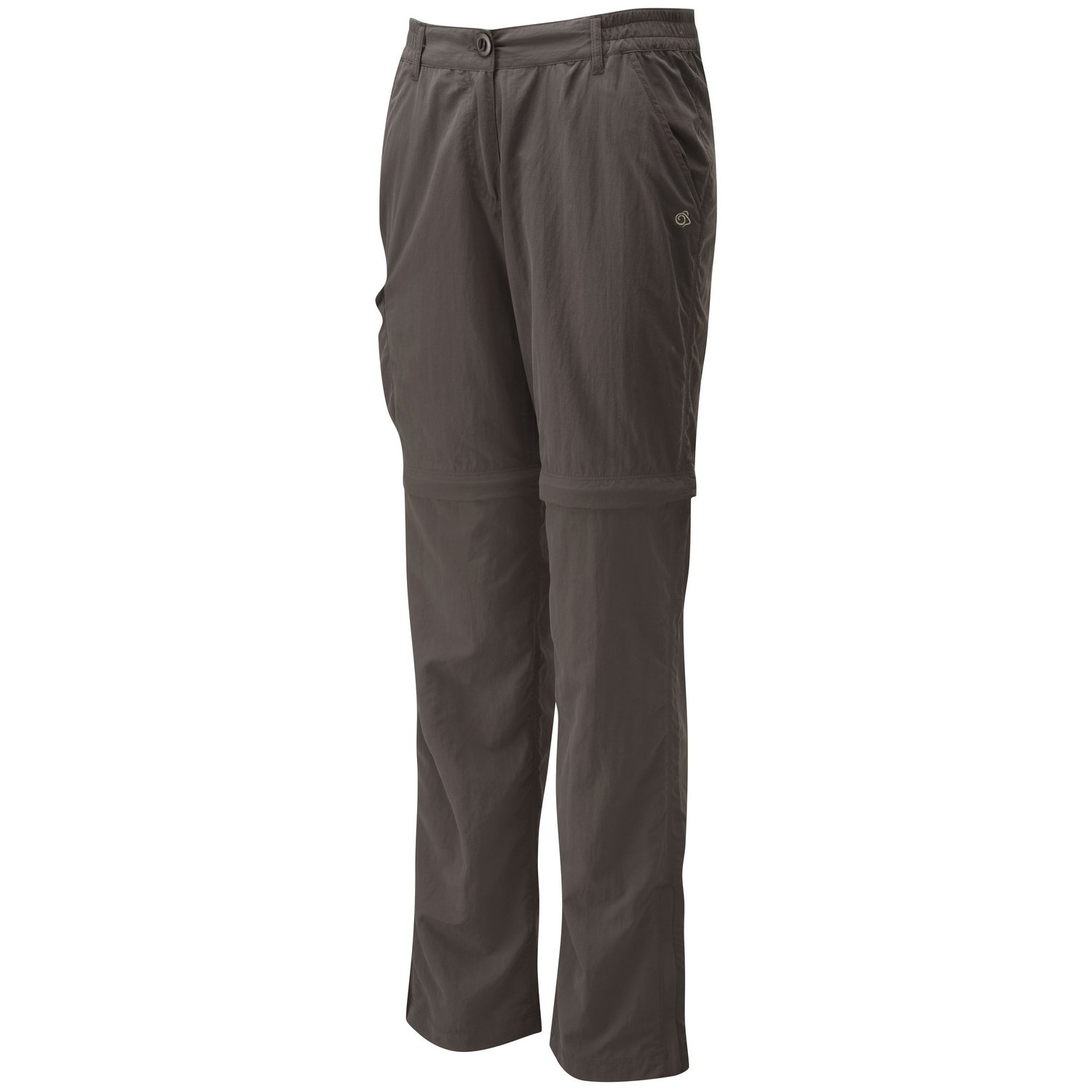 Craghoppers Ladies NosiLife Convertible Cargo Travel Trousers Brown