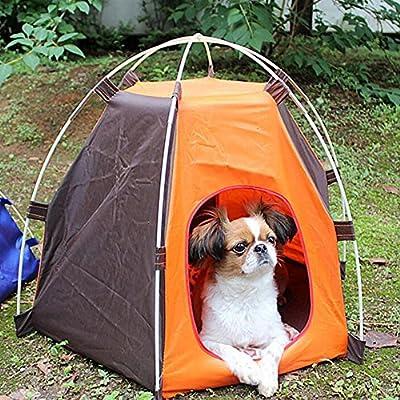RuiXiang 1pcs Outdoor Pet Tent, Small Pet Tent Assembly, Dog Cat Camping Tent, Portable Waterproof Pet House Tent,Indoor and Outdoor Dog Cat House from RuiXiang