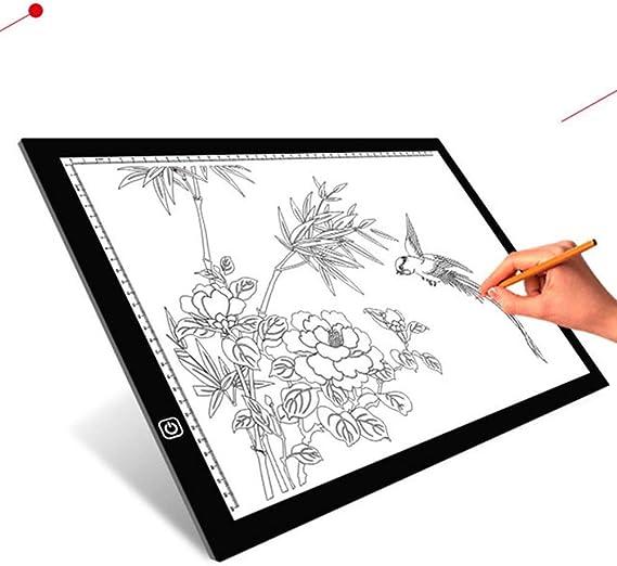 Copy Board Mesa de Luz Dibujo,A3 LED Mesas de Dibujo Light Pad Brillo Ajustable,Tableros de Dibujo,Tablero de Copia LED,Almohadilla de Seguimiento Tablero de Dibujo Tablero del Bosquejo,Pintura: Amazon.es: Hogar