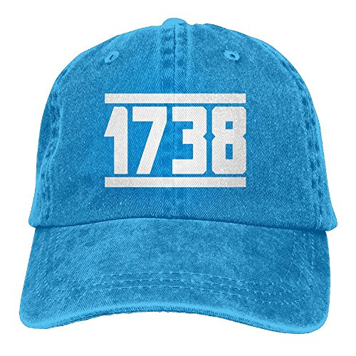 E Isabel 1738 Adjustable Walk Cotton Washed Denim Cap Hat Royalblue