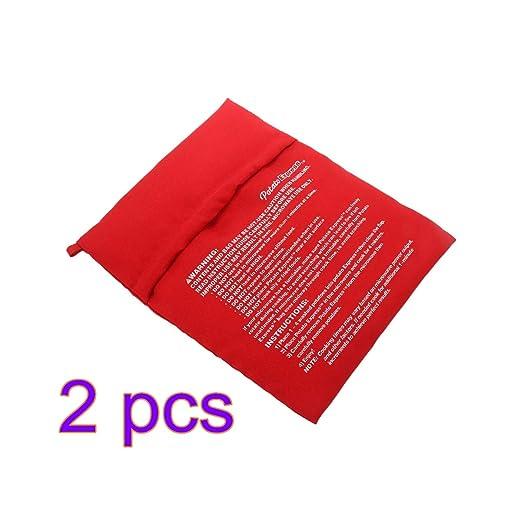 TiooDre Bolsa de Patatas para microondas, Color Rojo, Lavable y ...