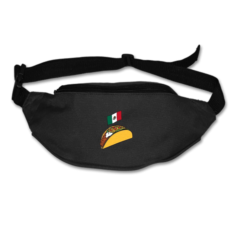Zhixiap Travel Fanny Bag Taco Mexico Flag Waist Pack Sling Pocket Super Lightweight for Travel