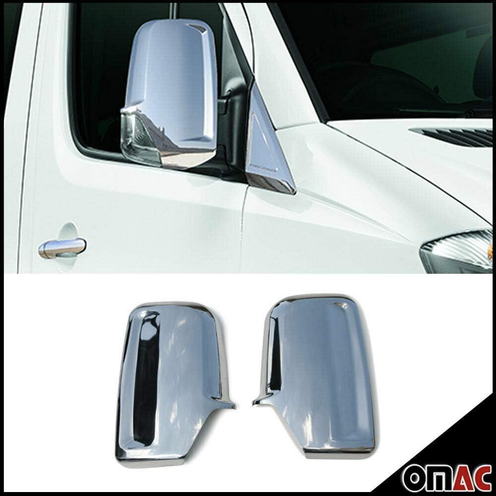 Chrome Mirror Cover Side Wing Cap Trim Kit SET 2 Pcs. DODGE RAM Promaster 2014