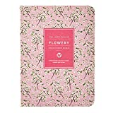 Daily Planner Calendar Schedule Organizer and Journal Notebook,Non Dated Day (Pink Cherry Blossom)