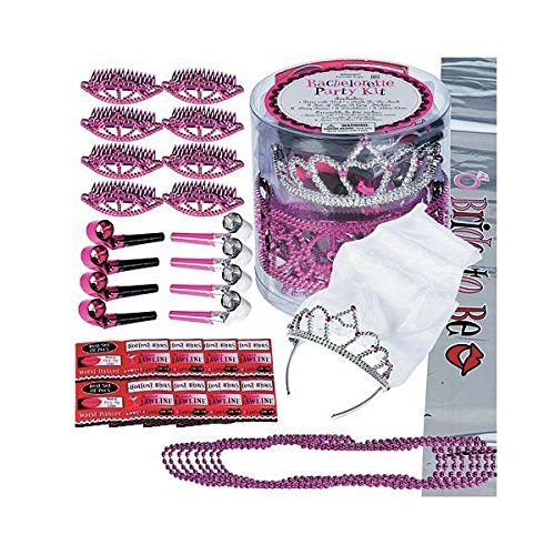 Bachelorette Wearables Party Kit | Pink, Silver, Black | 34 Ct
