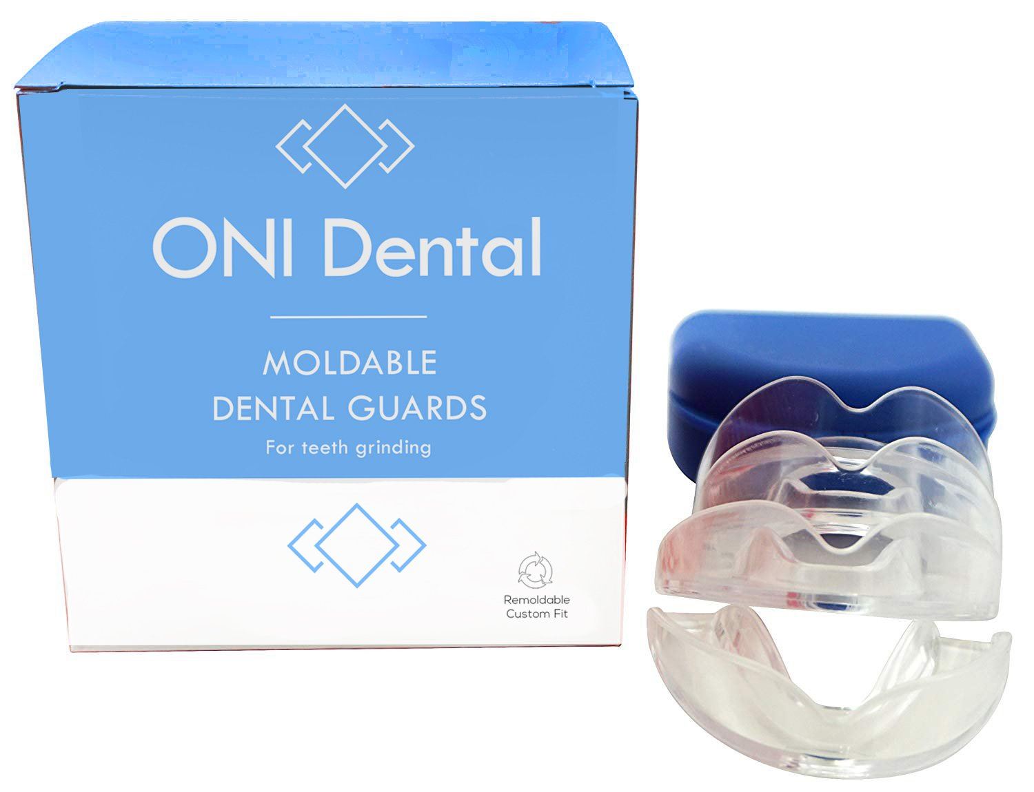 ONI Dental Guard BPA Free - Night Guards for Teeth Grinding, Athletic Mouth Guard, Teeth Whitening Tray - 4 Customizable trays - Made in USA Mouth guard for grinding teeth