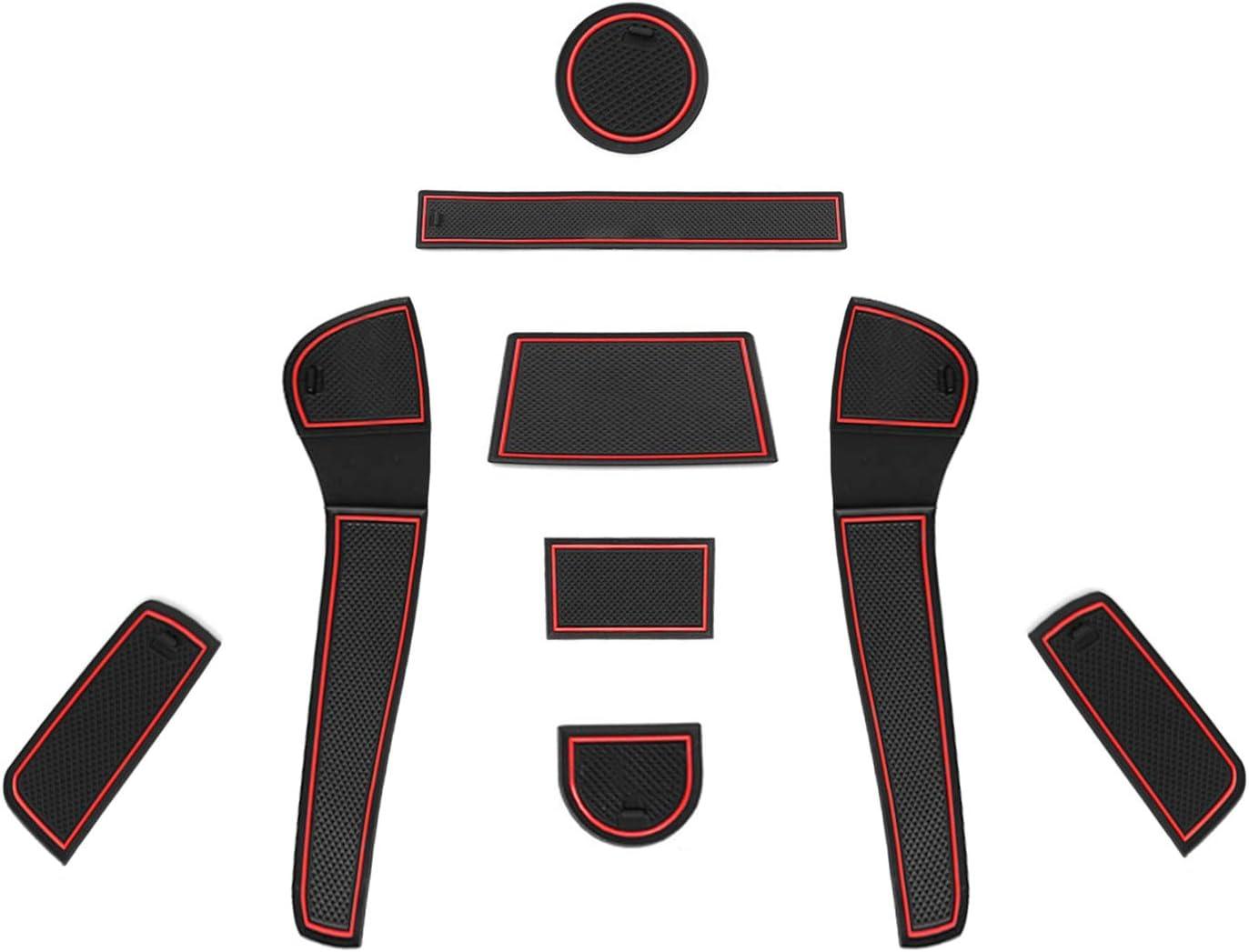 Coupe Porte Int/érieure Tasse Bo/îte de Bras Tapis de Stockage Accessoires CDEFG pour Seat Ateca SUV Auto Tapis Anti-poussi/ère Antid/érapante