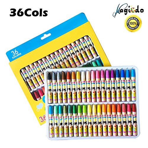 Based Pastel (Magicdo36 ColsOil Pastels, Oil Paint Sticks, Washable Crayons, Artistic Oil Painting Stick,Soft Colored Oil Pastels Stick - Bold Opaque Colors,Smooth Blending Texture, Ideal For Artists and Kids)