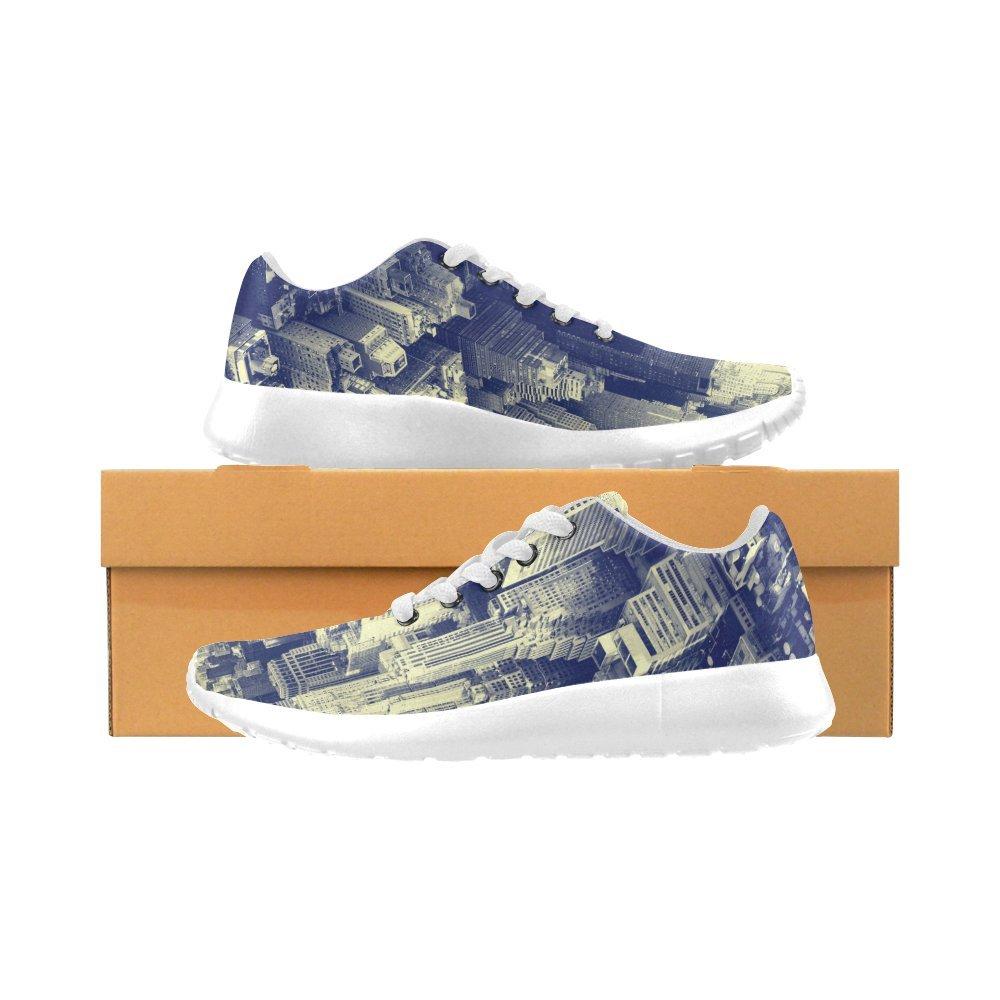 InterestPrint Men's Jogging Running Shoes Classic Canvas Sneakers Zebra 8 M US Pattern 10