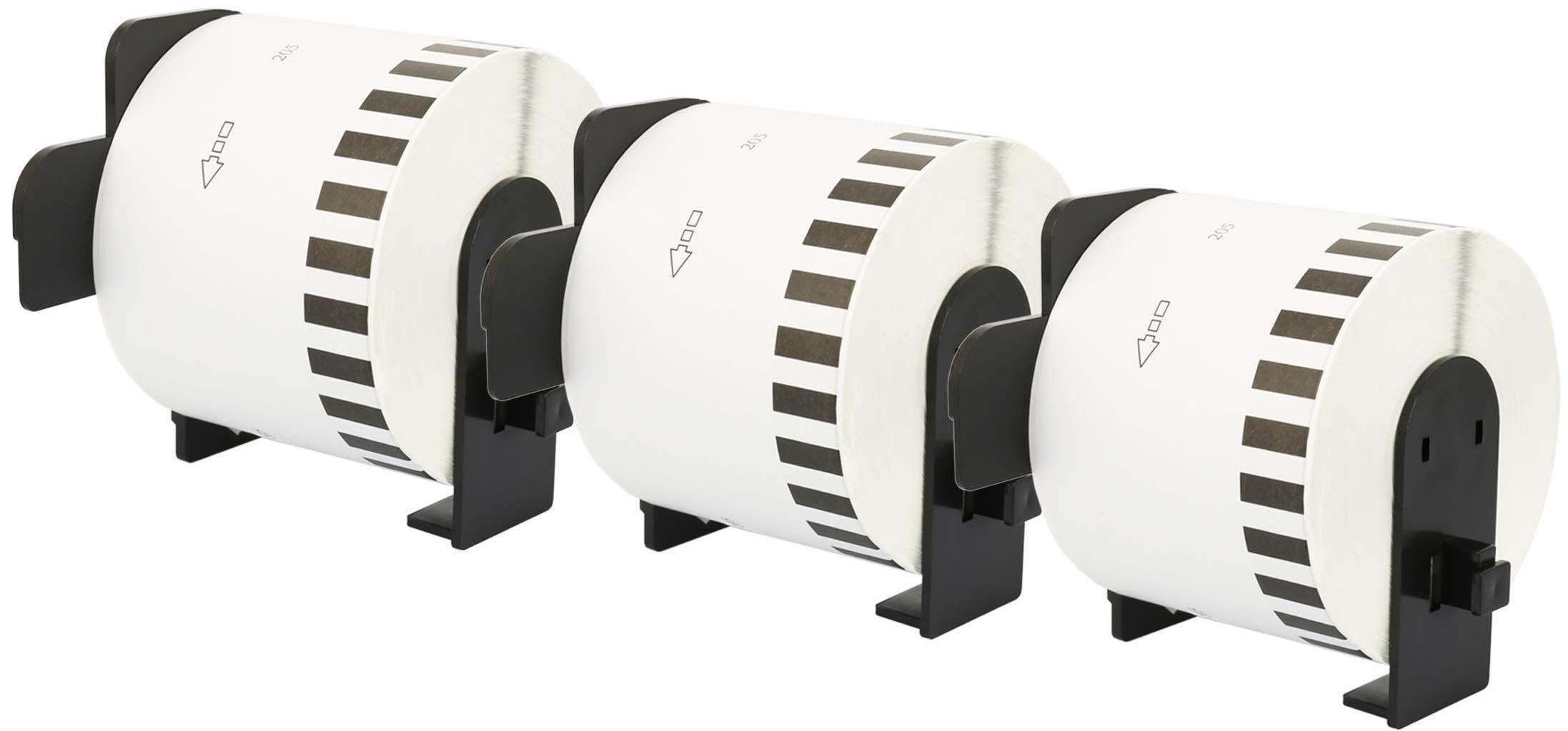 3X DK-44205 62 mm x 30.48 m Cintas de Etiquetas continuas Removibles compatibles para