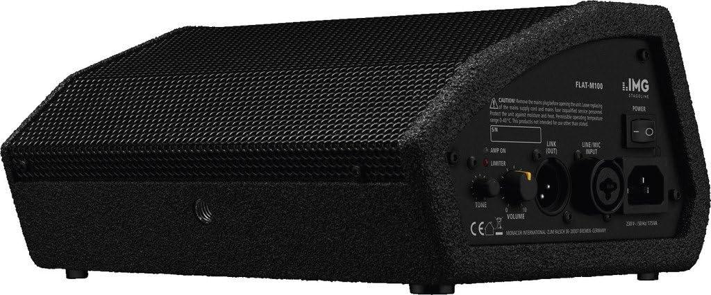 /M100/attiva di PA palcoscenico Monitor Box 100/W Nero IMG Stageline FLAT/