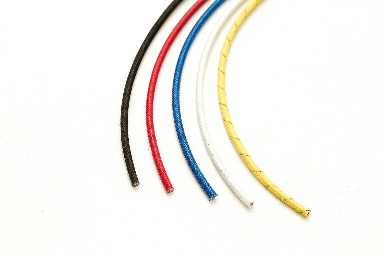 Amarillo 20 metrps Horno Calor Resistente Al Fuego Alta Temperatura Trenzado Fibra Vidrio cable 1.5mm