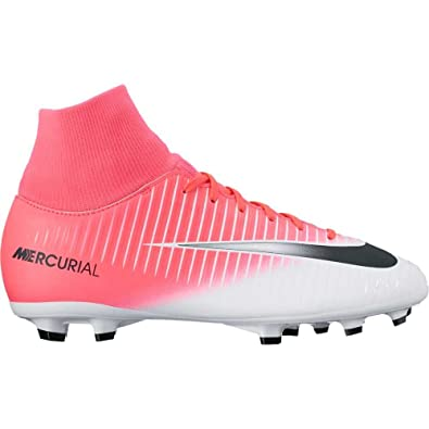 876b383e3759 Amazon.com | Nike Jr Mercurial Victory VI FG Racer Pink/Black/White ...