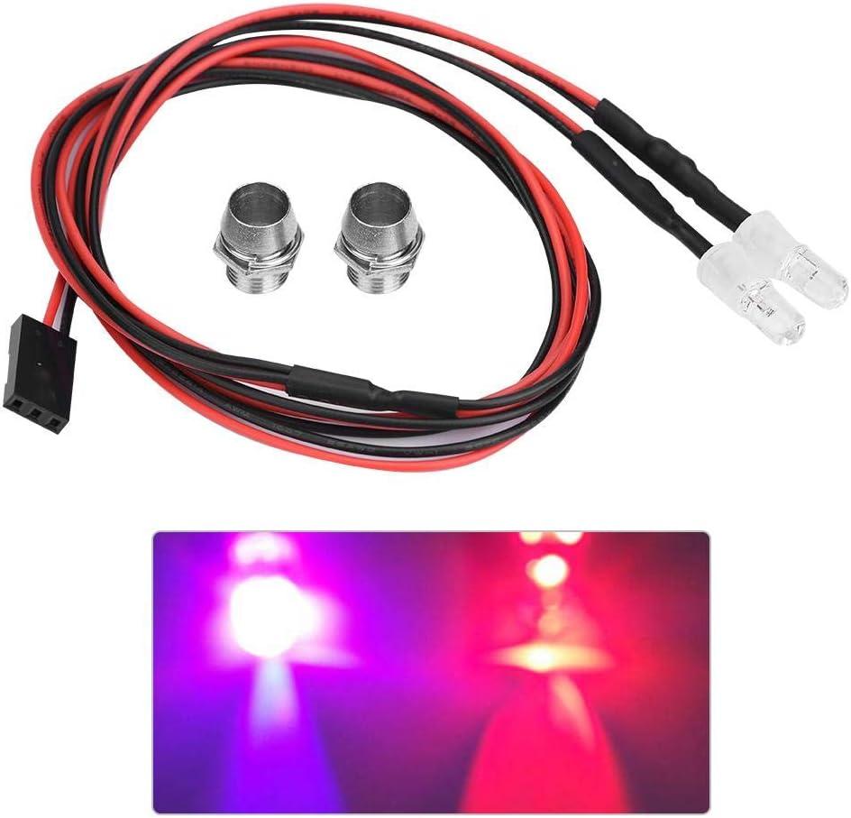 RC LED Luz Kits, 2PCS 5mm Faros RC Accesorios Luces LED para 1/10 Modelo Drift Car Vehiculo(10# Luz de Color)