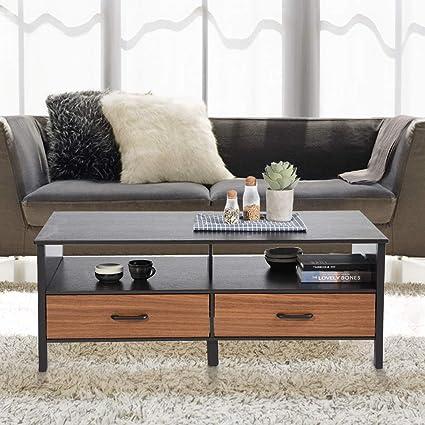 Amazoncom Aingoo Large Coffee Table Wooden 48in Rectangular 2