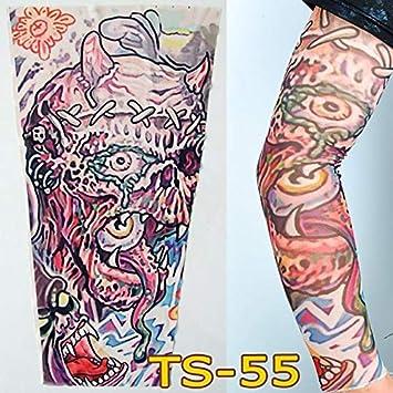 Unisex hombres mal imprimir protector solar mano falso tatuaje ...