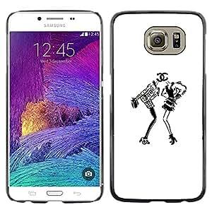 Be Good Phone Accessory // Dura Cáscara cubierta Protectora Caso Carcasa Funda de Protección para Samsung Galaxy S6 SM-G920 // white black design fashion dress