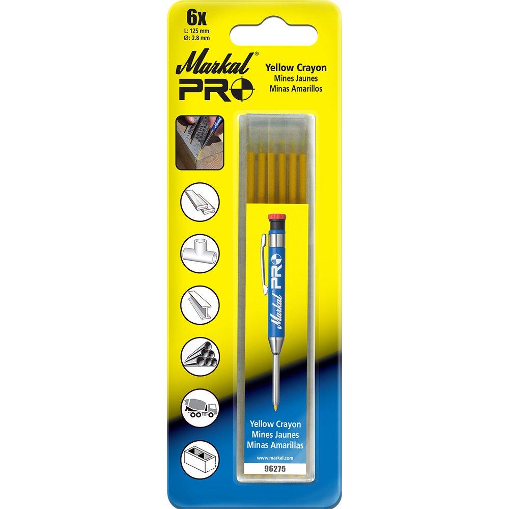 6 Pack Yellow Markal 96275 Pro Crayon Refills