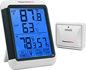 ThermoPro TP65A Indoor Outdoor Thermometer Digital Wireless Hygrometer Temperature