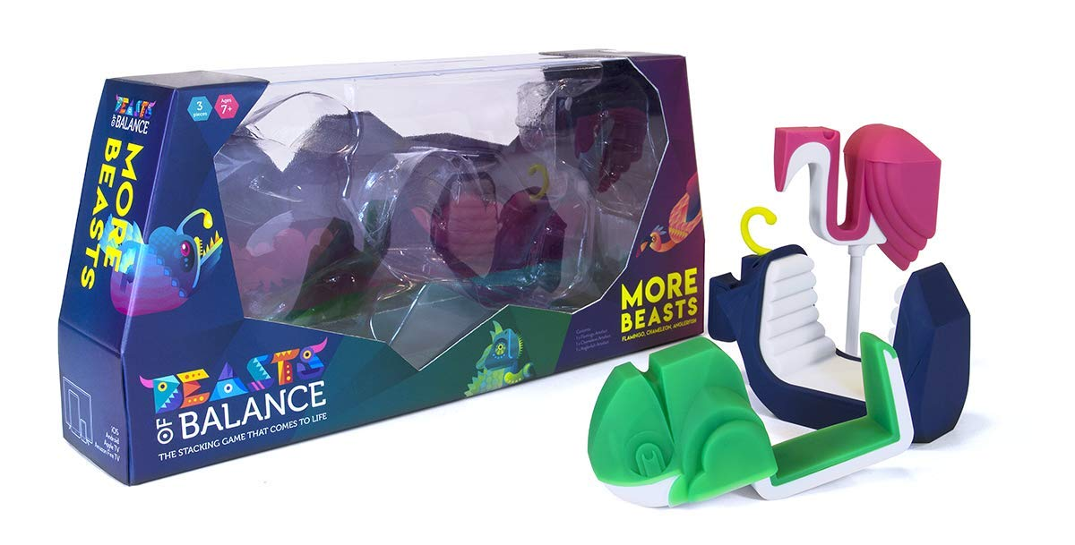 More Beasts Expansion for Beasts of Balance Physical-Digital Stacking Game, Age 6+