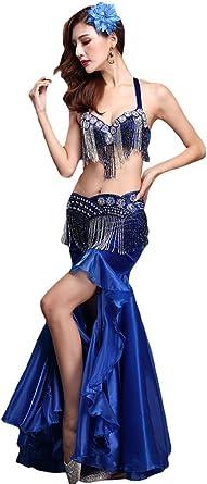YiJee Mujer Elegante Belly Dance Bra Danza Falda Oriental Danza ...