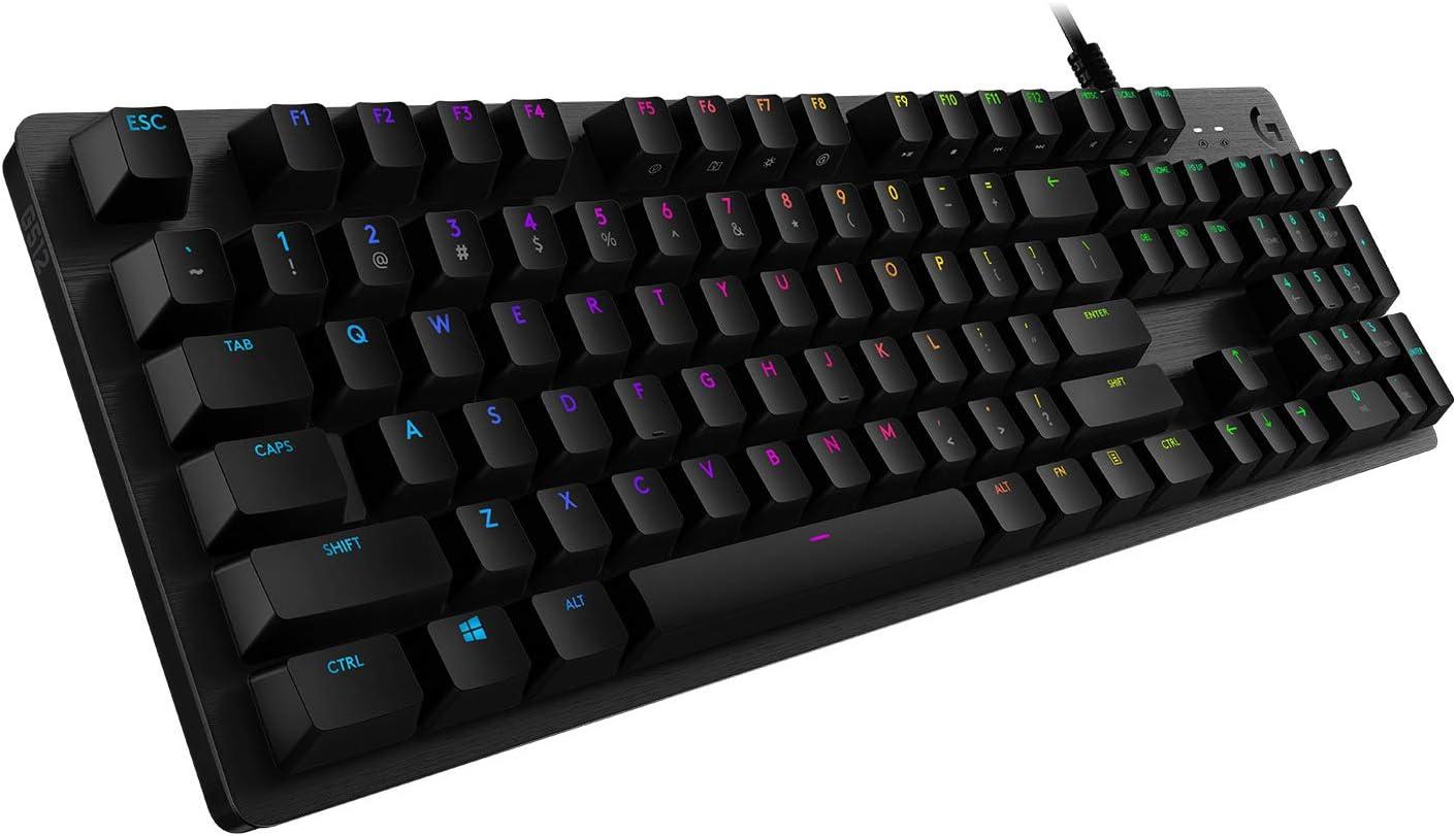 Logitech G512 Teclado Gaming Mecánico, Retroiluminado RGB ...