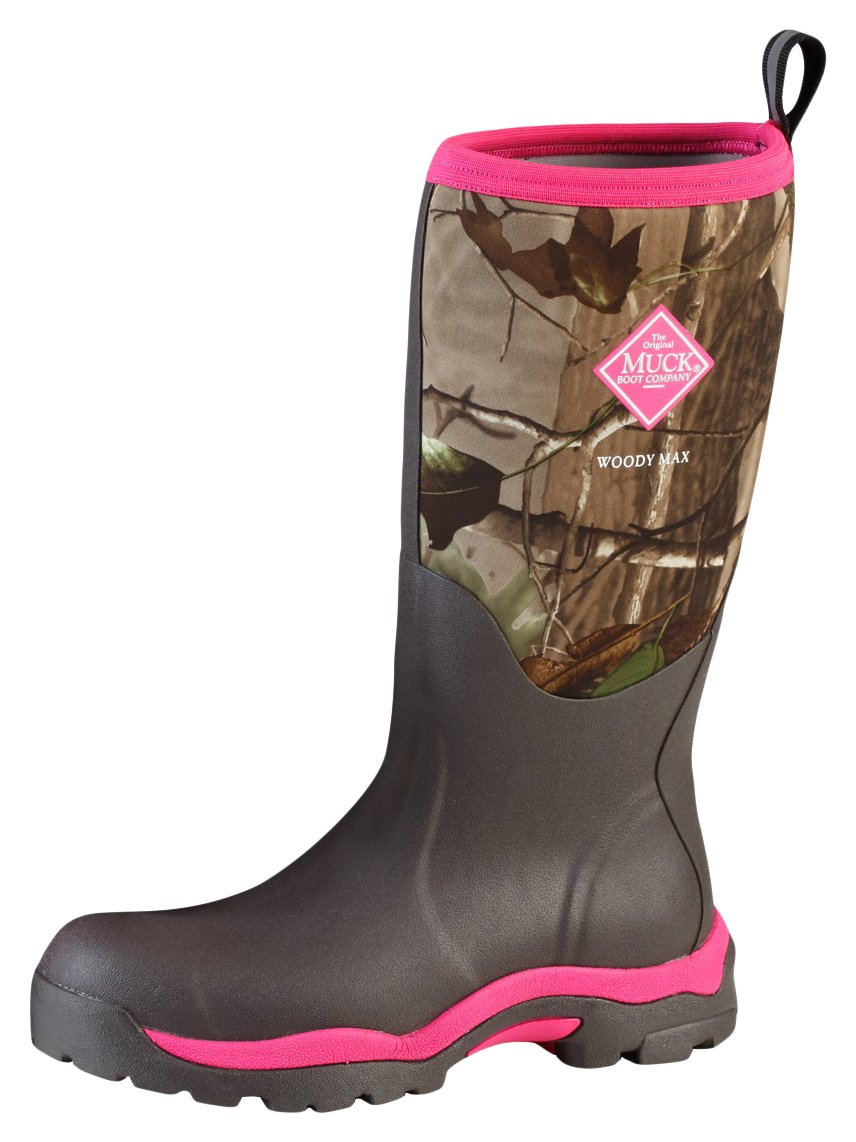 Muck Boot Women's Woody Max Mid Calf Boot, Realtree Extra/Pink, 8 Regular US