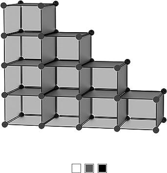 SIMPDIY Organizador Zapatos Modular 12 Cubos para 12 Pares Zapatos Organizador, Estantería de Gabinete Modular para Ahorro de Espacio 12 Cubos ...