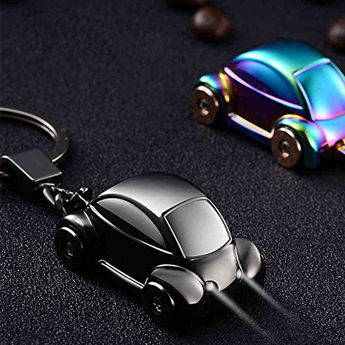 Jobon mini Beetle Car Stylish Keychain with SOS Flashlight made of Stainless Electroplated Alloy same cute with Pokemon (Nickel color)