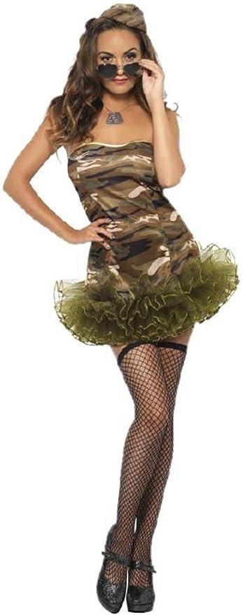 Smiffys Disfraz Carnaval Mujer Uniforme Militar Tutu Dress 20048 ...