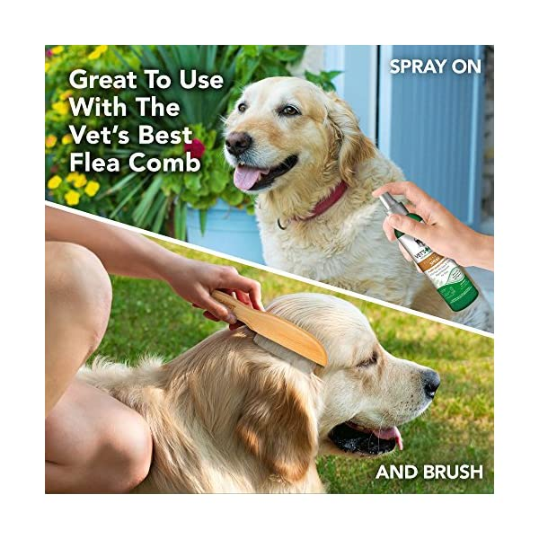 Vet's Best Flea and Tick Home Spray | Flea Treatment for Dogs and Home | Flea Killer with Certified Natural Oils 3
