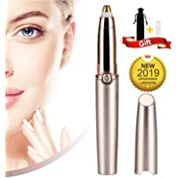 Eyebrow Hair Remover, Electric Eyebrow Trimmer Epilator for Women, Portable Painless Eyebrow Razor with Light (Battery Not Included)