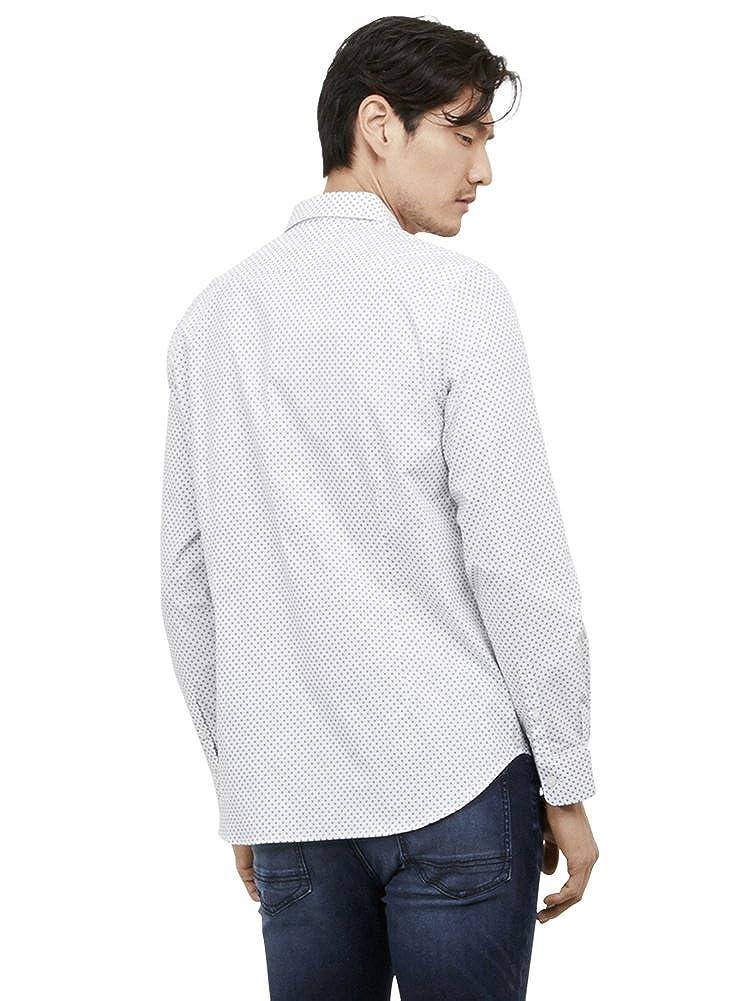 Kenneth Cole REACTION Mens Long Sleeve Slim Diamond Print Shirt