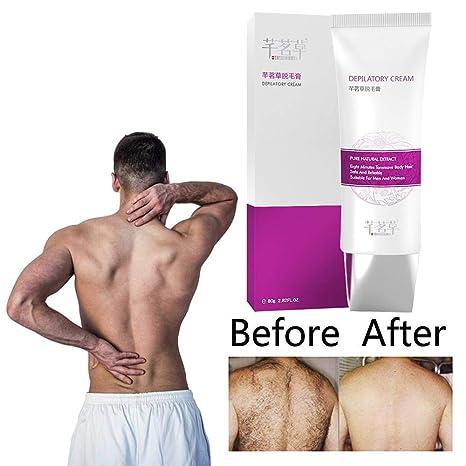 Crema depilatoria sin dolor de ginseng para la axila de la pierna del cuerpo Unisex