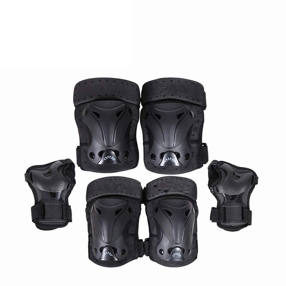 6ピースセット防護服ローラーブレード子供と大人サイクリングローラースケート膝の肘手首の保護パッドスケートボードの保護装置  B07HZ45Z98