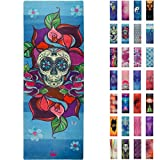 Printed Yoga Mat, Prana Yoga Mat, Bikram Yoga Mat – Incredibly Comfortable Yoga Mats for Men and Women – Gorgeous Printed Designs – Sugar Skull Day of the Dead – Day of the Yoga – Soul Obsssion Review