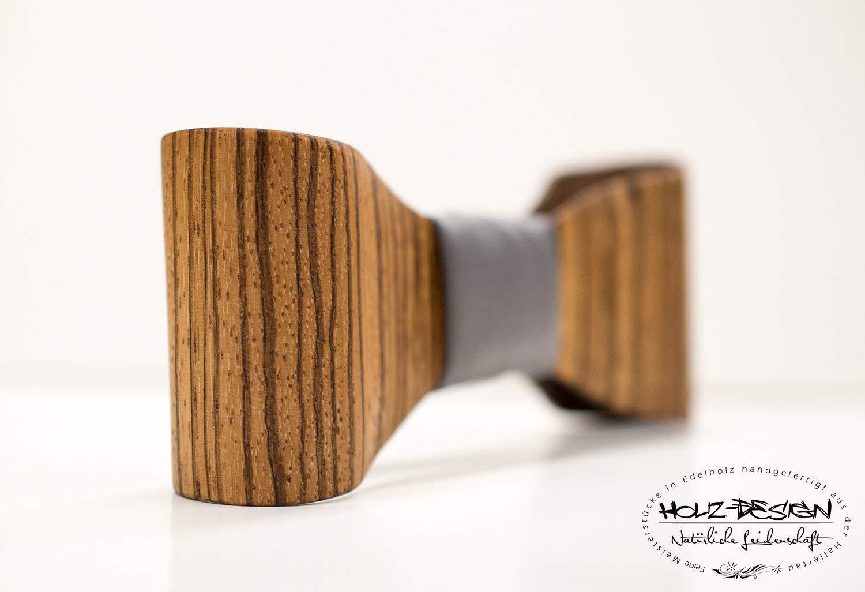 3D Holzfliege Bentwood Holz Fliege Hochzeit Holzfliege aus Zebrano Nussbaum Holz handgemacht Geschenk f/ür Hochzeit Querbinder Br/äutigam H/ölzerne Herren /& Damen Fliege Business Look gebogenes Holz