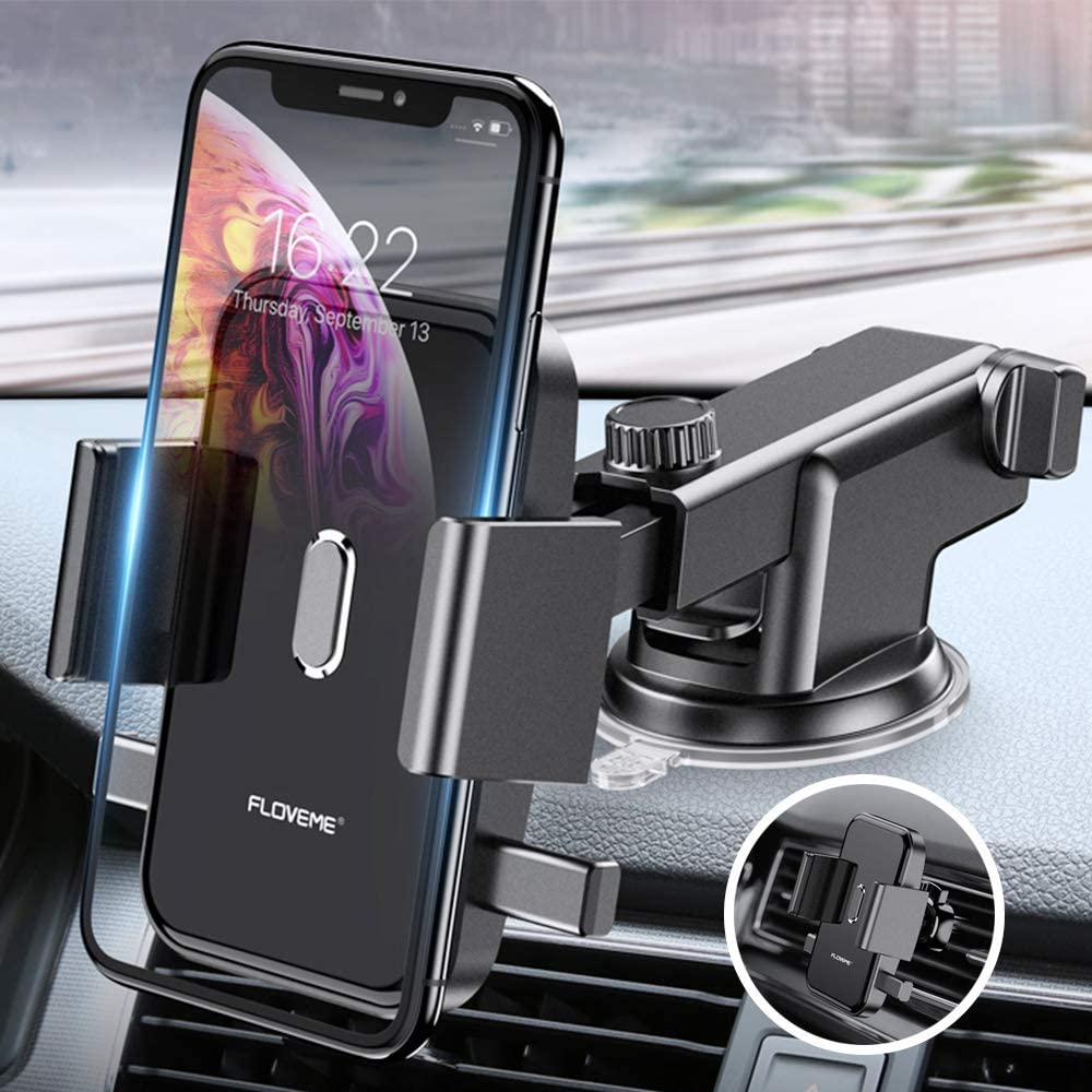 360/° Rotating Cell Phone Holder for Car Air Vent N52 Magnetic Car Mount with 4 Replaceable Metal Plate Compatible with iPhone 11 Pro Max XS Xr X 6 7 8 Plus and More FLOVEME Magnetic Car Phone Mount