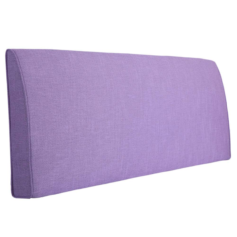 WCH ヘッドレストなしのベッドバックレストクッションリネン枕柔らかいベッドサイドソファソファー腰椎洗える色サイズ (Color : 紫の, サイズ : 150x10x60CM) B07RTTJPZL 紫の 150x10x60CM