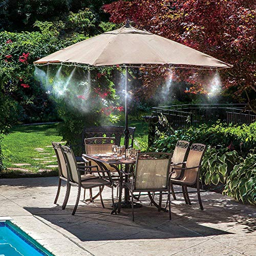 Orbit Mister Nozzles - 2 Pack (10 Misters) | Brass and Stainless Steel Outdoor Misting | Cool Your Patio with a Fine Water Mist Nozzle