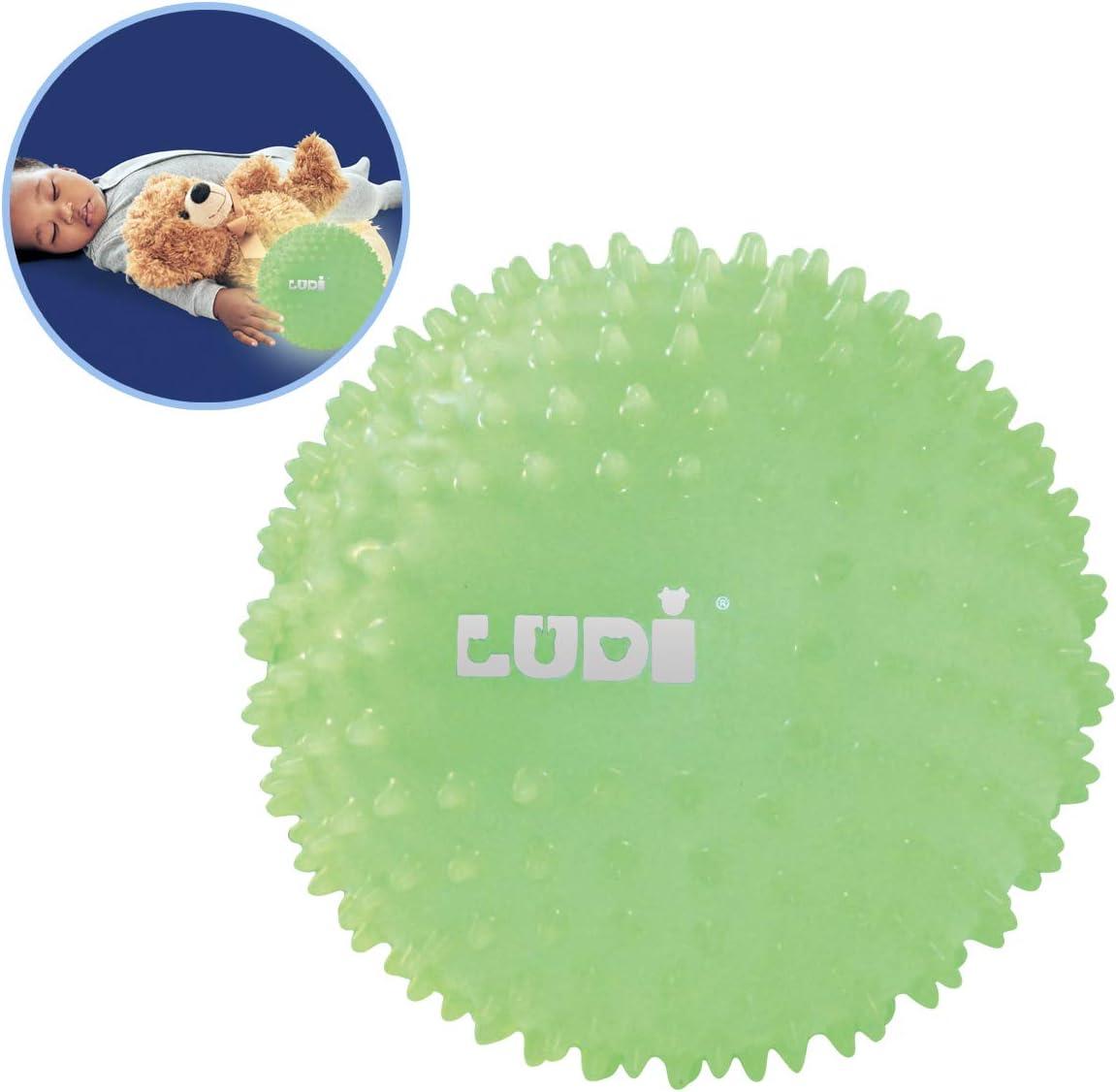 Ludi - Pelota sensorial que brilla en la oscuridad para el bebé. A ...