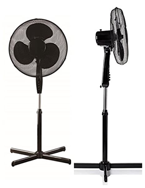 "16/"" Inch 3 Speed Cooling Pedestal Oscillating Fan Extendable Free Standing Tower"