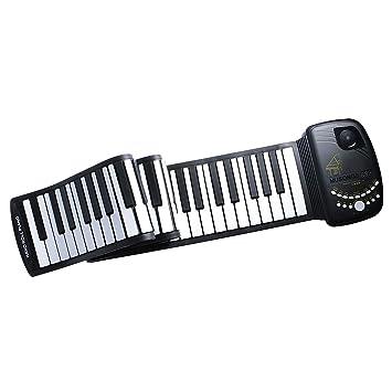 gazechimp portátil 88 teclas flexibles Roll-up Piano USB MIDI electrónica Teclado Piano - Longitud: 135 cm: Amazon.es: Instrumentos musicales