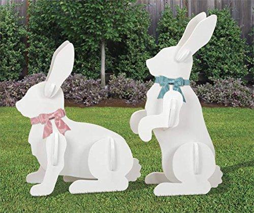 Large Yard Rabbits Easter Display