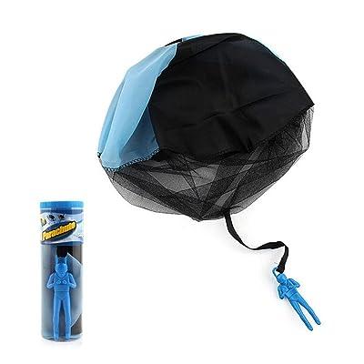 AOLVO Tangle gratuit Lancer de figurines de parachute à la main Couvre-lit Soliders Parachute carré d'extérieur pour enfant Flying Jouets   pas de cordes sans piles Toss IT Up