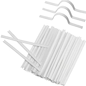 Plastic Nose Bridge Strips for Craft Projects, 10CM Double Wire Nose Bridge Strips, Flat Nose Wire Clips Plastic Strips for Face DIY Making (400)