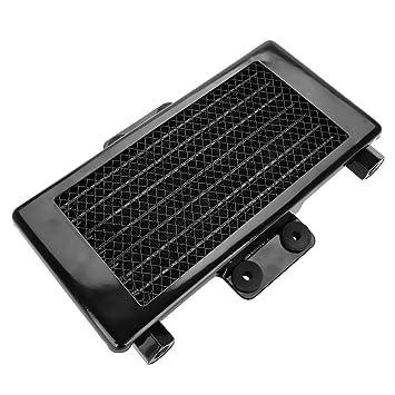 Keenso - Sistema de radiador de aceite de motor de motocicleta de aluminio, 125 ml