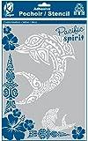Pochoir Maori A4 Dauphin - Ki Sign - 21x29,7 cm